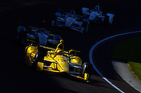16-20 May, 2016, Indianapolis, Indiana, USA<br /> Helio Castroneves (#3), Matt Brabham (#61), Will Power (#12) and Gabby Chaves (#19).<br /> ©2016, F. Peirce Williams