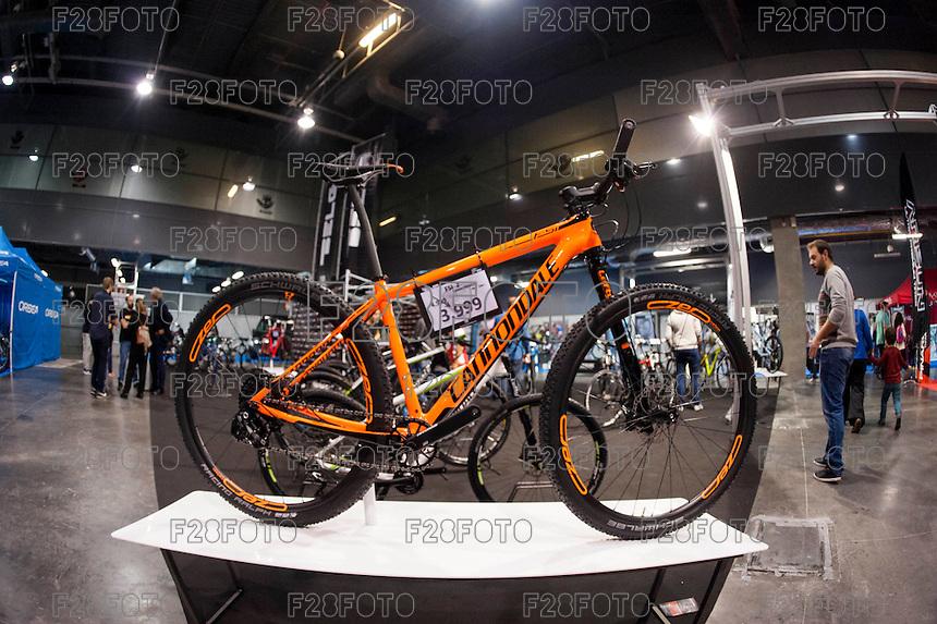 VALENCIA, SPAIN - NOVEMBER 7: Cannodale bike during DOS RODES at Feria Valencia on November 7, 2015 in Valencia, Spain