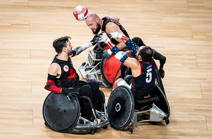 Cody Caldwell, Tokyo 2020 - Wheelchair Rugby // Rugby en fauteuil roulant.<br /> Canada takes on The USA in the preliminary round //Le Canada affronte Les Etats-Unis d'Amérique au tour préliminaire. 26/08/2021.