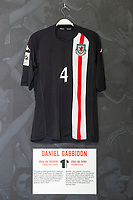 Daniel Gabbidons' 2005/06 Wales third shirt is displayed at The Art of the Wales Shirt Exhibition at St Fagans National Museum of History in Cardiff, Wales, UK. Monday 11 November 2019