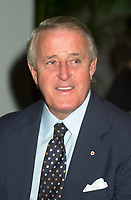August 23rd  2002, Montreal, Quebec, Canada<br /> <br /> Brian Mulroney, Former Canadian Prime Minister,  Former Leader of the Conservative Party of Canada, now member of the board of Quebecor Inc, Quebecor World Inc, Barrick Gold, ...<br /> <br /> <br /> <br /> Mandatory Credit: Photo by Pierre Roussel- Images Distribution. (©) Copyright 2002 by Pierre Roussel <br /> <br /> NOTE : <br />  Nikon D-1 jpeg opened with Qimage icc profile, saved in Adobe 1998 RGB<br /> .Uncompressed  Uncropped  Original  size  file availble on request.
