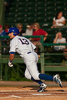 May 7 2010: Brett Jackson (13) of the Daytona Cubs during a game vs. the Clearwater Threshers at Jackie Robinson Ballpark in Daytona Beach, Florida. Daytona, the Florida State League High-A affiliate of the Chicago Cubs, lost the game against Clearwater, affiliate of the Philadelphia Phillies, by the score of 8-3.  Photo By Scott Jontes/Four Seam Images