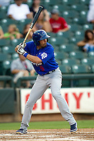 Las Vegas 51s third baseman Chris Woodward #5 at bat during the Pacific Coast League baseball game against the Round Rock Express on August 7th, 2012 at the Dell Diamond in Round Rock, Texas. The Express defeated the 51s 5-4. (Andrew Woolley/Four Seam Images).