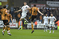 Pictured: Owain Tudur Jones of Swansea City in action<br /> <br /> Re: Coca Cola Championship, Swansea City Football Club v  Wolverhampton Wanderers at the Liberty Stadium, Swansea, south Wales 2008.