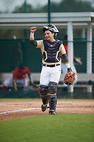 Darren Leon (60), from Miami, Florida, while playing for the Brewers during the Baseball Factory Pirate City Christmas Camp & Tournament on December 30, 2017 at Pirate City in Bradenton, Florida.  (Mike Janes/Four Seam Images)