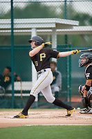 Pittsburgh Pirates Jordan George (13) during a Minor League Spring Training Intrasquad game on March 31, 2018 at Pirate City in Bradenton, Florida.  (Mike Janes/Four Seam Images)
