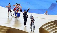 MOSCU - RUSIA, 15-07-2018: Nicky Jam realiza su espectáculo durante la ceremonia de clausura previo al partido por la final entre Francia y Croacia de la Copa Mundial de la FIFA Rusia 2018 jugado en el estadio Luzhnikí en Moscú, Rusia. / Nicky jam performs during the closed ceremony prior the match between France and Croatia of the final for the FIFA World Cup Russia 2018 played at Luzhniki Stadium in Moscow, Russia. Photo: VizzorImage / Cristian Alvarez / Cont