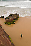 The cliff and cave of the Bordeira beach in SouthWest Portugal