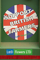 22-7-2021 Support British Farmers sticker on a farm trailer<br /> ©Tim Scrivener Photographer 07850 303986<br />      ....Covering Agriculture In The UK....