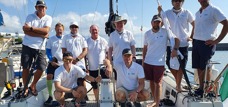 The Freya crew from Kinsale competing in the Palermo to Monte Carlo Race