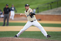 Wake Forest Demon Deacons relief pitcher John McCarren (45) in action against the Pitt Panthers at David F. Couch Ballpark on May 20, 2017 in Winston-Salem, North Carolina. The Demon Deacons defeated the Panthers 14-4.  (Brian Westerholt/Four Seam Images)