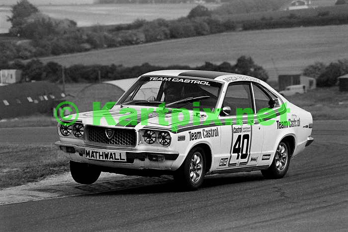 Barrie Whizzo Williams, in 70's saloon car action at Thruxton.