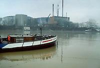 -Switzerland, the industrial area of Basel on Rhine river<br /> <br /> - Svizzera, la zona industriale di Basilea sul fiume Reno