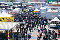 Apr 14, 2019; Baytown, TX, USA; NHRA fans in the pits/concession stand area during the Springnationals at Houston Raceway Park. Mandatory Credit: Mark J. Rebilas-USA TODAY Sports