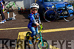 George Cleverly from Slieve Luchra Cycling Club warming up for the annual John Drum cycling (Juvenile Road race) in Currow on Sunday..