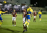 Kelty Hearts v St Johnstone…07.10.20   New Central Park  Betfred Cup<br />Jason Kerr heads in to put saints 1-0 up<br />Picture by Graeme Hart.<br />Copyright Perthshire Picture Agency<br />Tel: 01738 623350  Mobile: 07990 594431