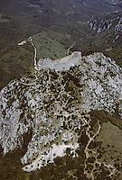 Europe/France/Midi-Pyrénées/09/Ariège/Montségur: Le Château de Montségur - Vue aérienne