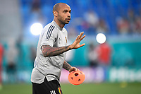 ST PETERSBURG, RUSSIA - JUNE 12 :  Thierry Henry assistent coach of Belgian Team pictured during the 16th UEFA Euro 2020 Championship Group B match between Belgium and Russia on June 12, 2021 in St Petersburg, Russia, 12/06/2021 <br /> Photo Photonews / Panoramic / Insidefoto <br /> ITALY ONLY