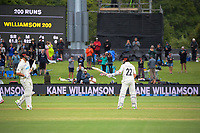 NZ captain Kane Williamson celebrates his 200 run milestone during day three of the second International Test Cricket match between the New Zealand Black Caps and Pakistan at Hagley Oval in Christchurch, New Zealand on Tuesday, 5 January 2021. Photo: Dave Lintott / lintottphoto.co.nz