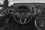 Car pictures of steering wheel view of a 2018 Ford Edge SEL 5 Door Suv Steering Wheel