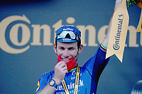 6th July 2021, Albertville, Auvergne-Rhône-Alpes, France;  TOUR DE FRANCE 2021- UCI Cycling World Tour. Stage 10 from Albertville to Valence on the 6th of July 2021, Valence, France. Mark Cavendish (GBR) DQT on the podium