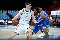18-05-2021: Basketbal: Donar Groningen v Heroes Den Bosch: Groningen, Donar speler Damjan Rudez met Den Bosch speler Demario Mayfield