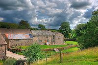 HDR image of converted farm buildings, Whitewell, Lancashire.