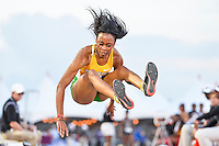 Brianna Richardson of Baylor competes in first round of triple jump during West Preliminary Track & Field Championships at John McDonnell Field, Friday, May 30, 2014 in Fayetteville, Ark. (Mo Khursheed/TFV Media via AP Images)