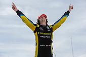 #26: Colton Herta, Andretti Autosport w/ Curb-Agajanian Honda, winner, victory lane