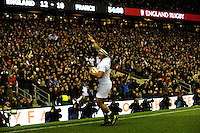 Manu Tuilagi of England celebrates scoring a try on his return during the RBS 6 Nations match between England and France at Twickenham on Saturday 23rd February 2013 (Photo by Rob Munro)