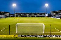 2nd February 2021; St Mirren Park, Paisley, Renfrewshire, Scotland; Scottish Premiership Football, St Mirren versus Hibernian; Heavy rain at St Mirren Park before kick off