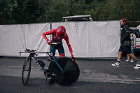 last minute check<br /> <br /> UCI WOMEN'S TEAM TIME TRIAL<br /> Ötztal to Innsbruck: 54.5 km<br /> <br /> UCI 2018 Road World Championships<br /> Innsbruck - Tirol / Austria