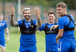 St Johnstone Training…31.07.19<br />Richard Foster, Danny Swanson and Jason Kerr pictured during training ahead of Saturday's opening game of the season at Celtic Park.<br />Picture by Graeme Hart.<br />Copyright Perthshire Picture Agency<br />Tel: 01738 623350  Mobile: 07990 594431