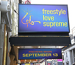 "Theatre Marquee for  ""Freestyle Love Supreme"" at the Booth Theatre on August 22, 2019 in New York City."