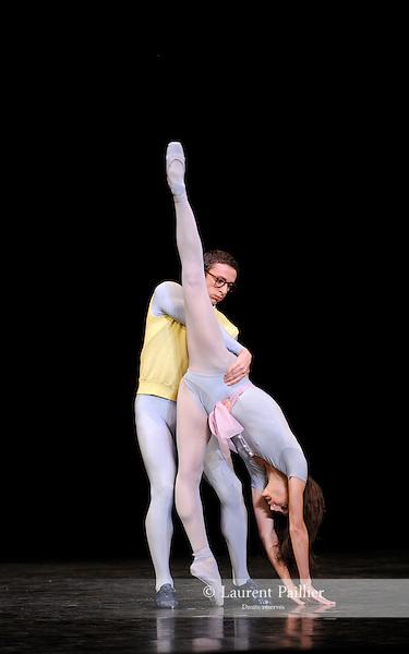 THE CONCERT..OU LES MALHEURS DE CHACUN....Choregraphie : ROBBINS Jerome..Mise en scene : ROBBINS Jerome..Compositeur : CHOPIN Frederic..Compagnie : Ballet de l Opera National de Paris..Lumiere : TIPTON Jennifer..Costumes : SHARAFF Irene..Avec :..GILBERT Dorothee : la ballerine..CARBONE Alessio : le mari..Lieu : Opera Garnier..Ville : Paris..Le : 20 04 2010..© Laurent PAILLIER / photosdedanse.com..All rights reserved