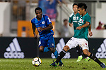 Chun Pong Leung of Long Lions (R) fights for the ball with Christian Kwesi of SC Kitchee (L) during the Community Cup match between Kitchee and Eastern Long Lions at Mong Kok Stadium on September 23, 2017 in Hong Kong, China. Photo by Marcio Rodrigo Machado / Power Sport Images