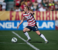 Becky Sauerbrunn.  The USWNT defeated Costa Rica, 8-0, during a friendly match at Sahlen's Stadium in Rochester, NY.