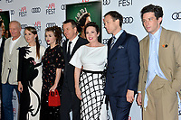 """LOS ANGELES, USA. November 17, 2019: Charles Dance, Erin Dohery, Helena Bonham Carter , Peter Morgan, Olivia Colman, Tobias Menzies & Josh O'Connor  at the gala screening for """"The Crown"""" as part of the AFI Fest 2019 at the TCL Chinese Theatre.<br /> Picture: Paul Smith/Featureflash"""