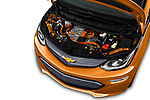 Car Stock 2019 Chevrolet Bolt-EV LT 5 Door Hatchback Engine  high angle detail view