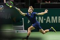 ABN AMRO World Tennis Tournament, Rotterdam, The Netherlands, 18 Februari, 2017, David Goffin (BEL)<br /> Photo: Henk Koster