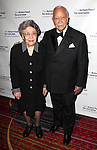 David Dinkins with wife Joyce Dinkins.attending the Actors Fund Gala honoring Harry Belafonte, Jerry Stiller, Anne Meara & David Steiner at the Mariott Marquis Hotel in New York City on 5/21/12