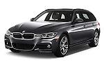 2018 BMW 3-Series 330i-Sports-Wagon 5 Door Wagon Angular Front stock photos of front three quarter view