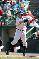 April 26, 2009:  Designated Hitter John Rodriguez (19) of the Scranton Wilkes-Barre Yankees, International League Class-AAA affiliate of the New York Yankees, during a game at the Frontier Field in Rochester, NY.  Photo by:  Mike Janes/Four Seam Images