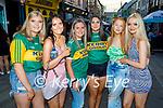 Enjoying the evening in Killarney on Saturday, l to r: Roisin Collins, Jane Smith (Knocknagree),  Caoimhe Moynihan (Glenflesk), Muireann Darcy (Glenflesk), Ava McCrohan (Kilcummin) and Clarise Claffey