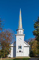 Charming New England church, Stamford, Connecticut, USA.