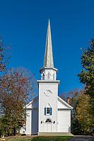 Charming New England church, Stamford, Connecticut, USA.