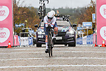 British Champion Alice Barnes (GBR) Canyon/SRAM Racing in action during Stage 2 of the CERATIZIT Challenge by La Vuelta 2020, an individual time trial running 9.3km around Boadilla del Monte, Spain. 6th November 2020.<br /> Picture: Antonio Baixauli López/BaixauliStudio | Cyclefile<br /> <br /> All photos usage must carry mandatory copyright credit (© Cyclefile | Antonio Baixauli López/BaixauliStudio)