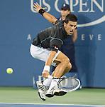 Novak Djokovic (SRB) beats Joao Sousa (POR) 6-0, 6-2, 6-2 at the US Open being played at USTA Billie Jean King National Tennis Center in Flushing, NY on September 1, 2013
