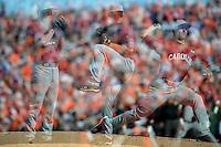 Sam Dyson (Pitcher) South Carolina Gamecocks (Photo by Tony Farlow/Four Seam Images)