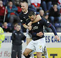 31/01/2009  Copyright Pic: James Stewart.File Name : sct_jspa12_falkirk_v_aberdeen.MICHAEL HIGDON IS CONGRATULATED BY DEAN HOLDEN AFTER HE SCORES FALKIRK'S GOAL.James Stewart Photo Agency 19 Carronlea Drive, Falkirk. FK2 8DN      Vat Reg No. 607 6932 25.Studio      : +44 (0)1324 611191 .Mobile      : +44 (0)7721 416997.E-mail  :  jim@jspa.co.uk.If you require further information then contact Jim Stewart on any of the numbers above.........